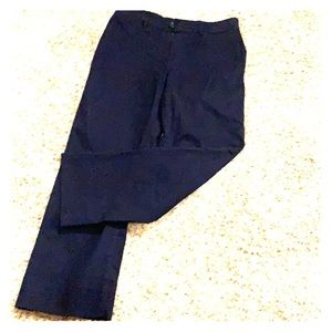 Slim Wide Leg Ankle Pant NWT Navy Loft Small